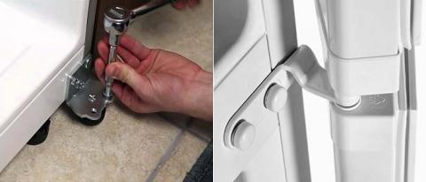Как перенавесить дверцу холодильника?